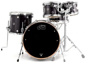 DW PERFORMANCE SERIES 5-PIECE SHELL PACK MAPLE SNARE (EBONY STAIN)